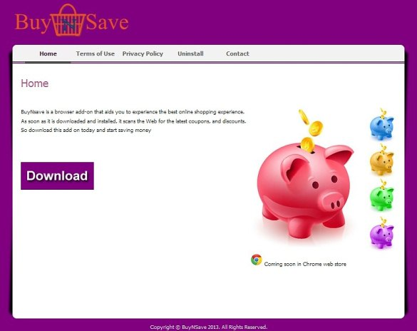 BuyNSave homepage