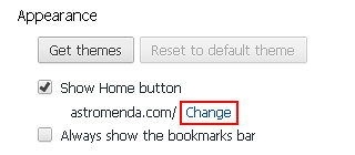 Click Change under Appearance section