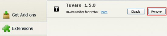 firefox-remove-tuvaro-extension
