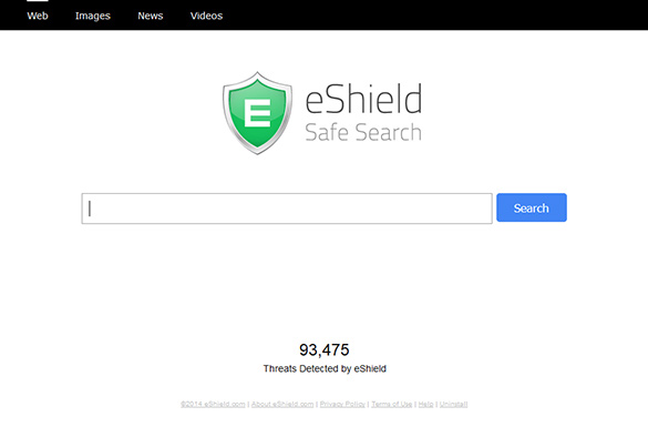 Infected users are bound to hit search.eshield.com on a constant basis