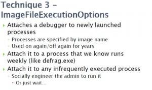 Technique 3 - ImageFileExecutionOptions