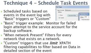 Technique 4 - Scheduled tasks