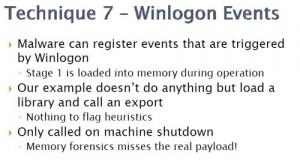 Techique 23 - Winlogon events