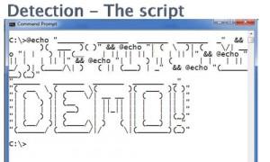 Detection - The Script