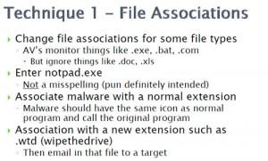 Technique 1 - File associations