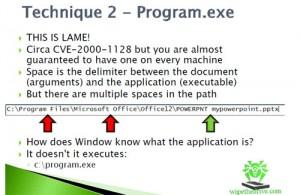 Technique 2 - Program.exe