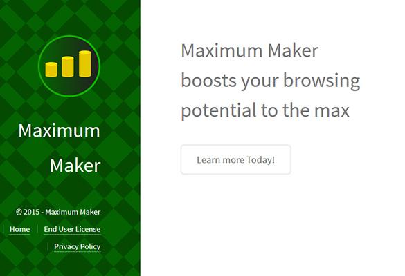 The primitive site of Maximum Maker app